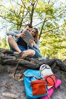 par går vandring, skog, rekreation
