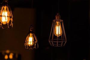 retro glödlampa foto