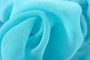 blå crepe de chine tyg foto