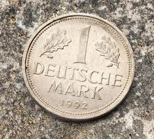 gamla tyska mynt foto