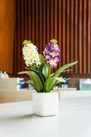 blommor gjorda av tyg foto