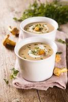 krämig svamp soppa foto