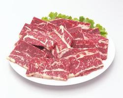 färskt rött kött foto