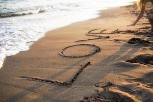 strand älskar sand foto