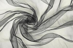 svart tyllbakgrund foto