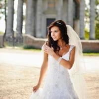 vacker brud poserar foto