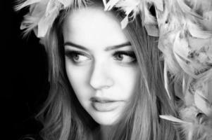 ung vacker kvinna foto