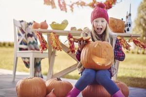 förberedelse till halloween är en kul kul foto
