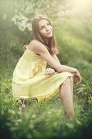 ung flicka smilling foto