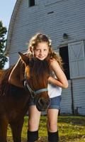 tjej med ponny foto