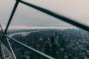 Flygfoto över New York City foto