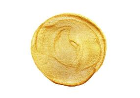 guldmålad cirkel på vit bakgrund foto