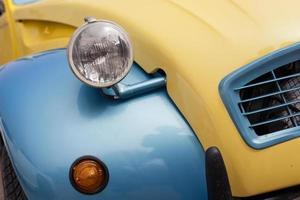 närbild detalj av en vintage bil foto