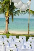 bröllop stol inställning foto