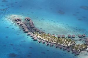 Flygfoto över polynesien foto