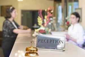kund i receptionen foto