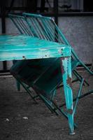vintage bord och stol foto