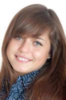 porträtt av den leende flickan foto