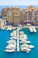 utsikt över Monaco foto