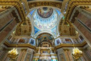 interiör i helgen isaacs katedral i saint petersburg