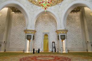 mihrab av sheik zayed grand moské foto
