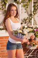 jag älskar blommor! foto