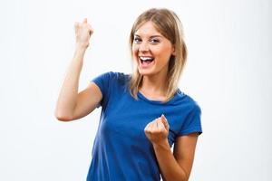 glad kvinna foto