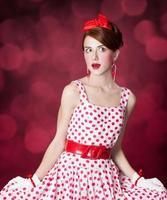 vackra rödhåriga kvinnor. foto