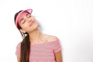 ung kvinna dagdrömmer foto