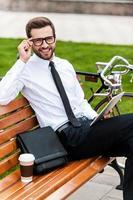 ung och framgångsrik affärsman. foto