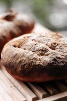 runt brunt bröd foto