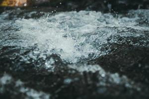 närbild fotografering av trasig is foto