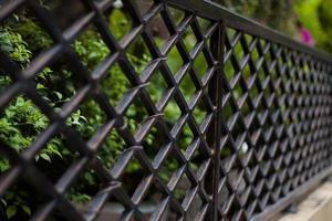 selektivt fokus på staketet foto