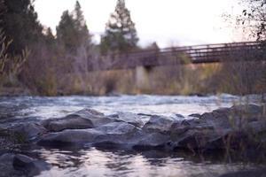 bro över floden foto