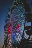 foto av pariserhjulet under natten