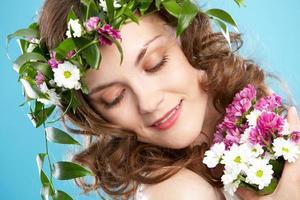blomma kvinna foto