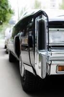 bröllop svart bil foto