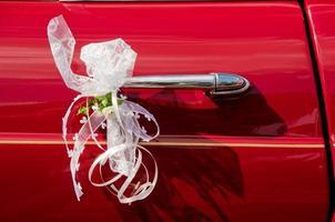 bröllop limousine handtag foto