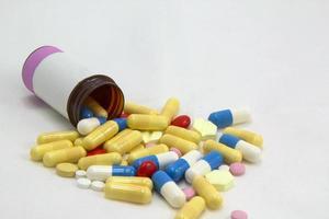 kapslar och tabletter foto