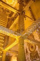 Thailändsk stilkonsttempel, Wat Phrathat Nong Bua, Thailand foto
