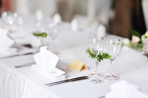 bordsuppsättning för en händelsefest foto