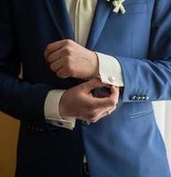 mannen i kostym foto