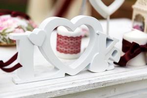bröllop dekor foto