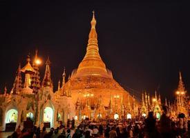 shwedagon pagoda myanmar foto