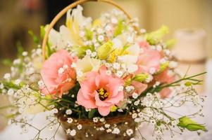bröllop dekor blommor foto