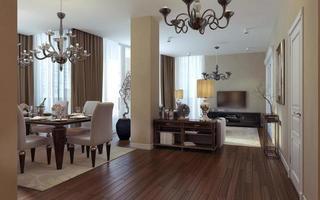 lyxigt vardagsrum art deco och modern stil foto
