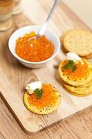 röd kaviar foto