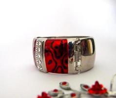 röda smycken foto
