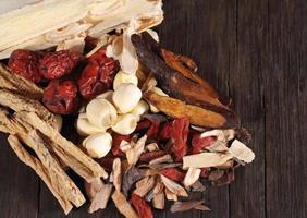 traditionell kinesisk örtmedicin foto