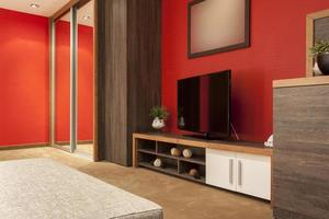 stor tv i modern lägenhet foto